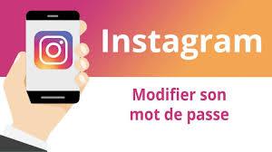 comment changer son mot de passe sur Instagram
