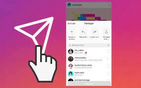 comment partager une publication en story sur Instagram
